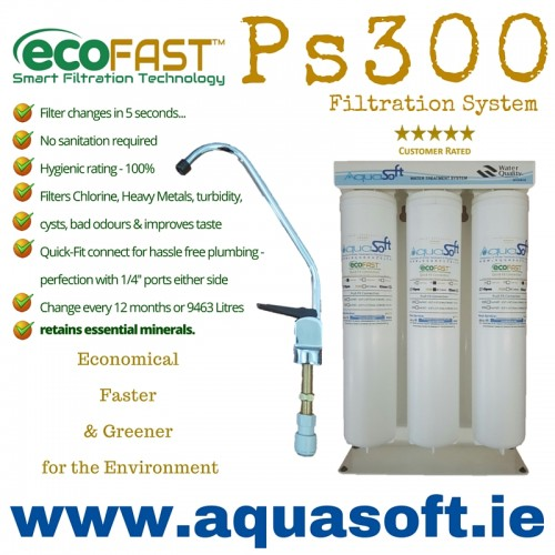 Ecofast Ps300 Quick Connect Triple Under Sink